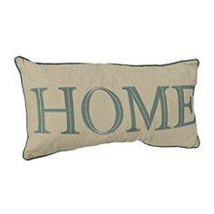 Teal Home Pillow