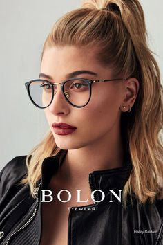 Bolon Eyewear Taps Model Hailey Baldwin As The Face Of Its 2017 Campaign. The Blonde Beauty Poses In Chic Sunglasses And Optical Styles F. Hailey Baldwin, Glasses Frames Trendy, Girls With Glasses, Glasses Trends, Lunette Style, Glasses For Your Face Shape, Eyewear Trends, Fashion Eye Glasses, Wearing Glasses
