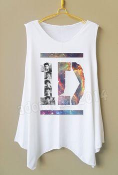 Galaxy One Direction Shirt Galaxy 1D Shirt Galaxy Shirt Women Tank Top Long Tank Top Women Tunic Dress Women Top Women Shirt Women T-Shirt
