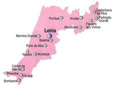 Mapa do Distrito de Leiria, Portugal