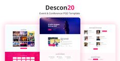 Buy Descon Event & Conference PSD Template by Jit_Banik on ThemeForest. Description: – Event and Conference PSD Template. It is very clean and modern designed especially for organi. Visual Hierarchy, Event Template, Grid System, Event Management, Business Flyer, Psd Templates, User Interface, Creative Business, Organization