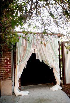 Creative ways to use fabric to inspire your decor! via @Jenn Tolbert
