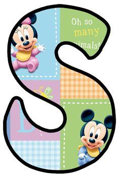 Daisy Duck, Mickey Mouse, Baby Letters, Monogram Alphabet, Blogger Templates, Tricks, Cut Outs, Lyrics, Baby Disney