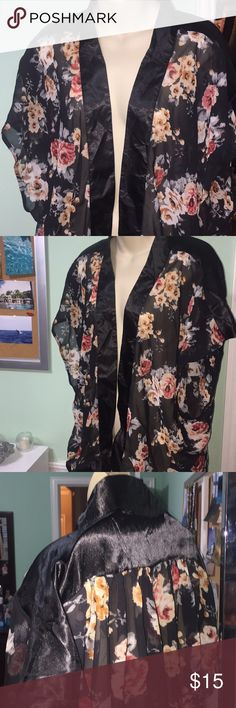 Floral Kimono Never worn, unknown brand kimono. My mom ordered this somewhere on the internet and accidentally got three so we have two to sell. Can have both for 15. Size large but can fit any size Other
