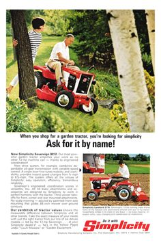Pin by michael kibbee on garden tractors pinterest tractors simplicity tractors and allis for Bairs lawn and garden