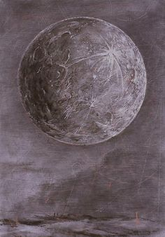 William Kentridge - Moon (2004).