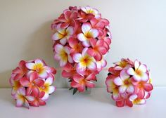 plumeria's revisited in pinks and whites. <3 <3