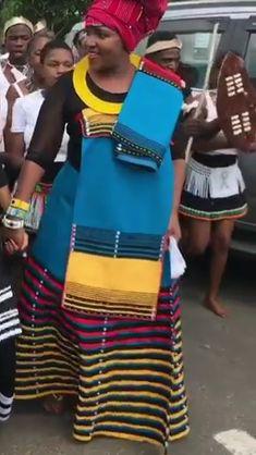 Traditional Xhosa Umbaco Skirts - Sunika Traditional African Clothes African Clothes, African Dresses For Women, African Print Dresses, African Print Fashion, Tsonga Traditional Dresses, Traditional Clothes, Xhosa Attire, African Attire, Doek Styles