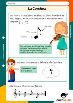 La Corchea Music Lessons For Kids, Music For Kids, Piano Teaching, Teaching Tips, Music Class, Music Education, Learning Italian, Music Theory, Music Notes