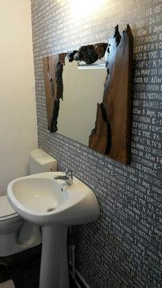 Bath live edge walnut mirror - Home Decoraiton