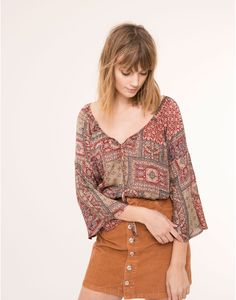 ETHNIC BLOUSE - BLOUSES & SHIRTS - WOMAN - PULL&BEAR Croatia