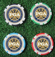 10EA new design pga golf poker chip ball marker many color 40cm dia 11.5g best seller golf ball marker