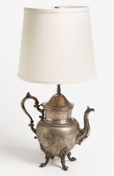 Vintage silverplate lamp  fleaChic (flea market blog)