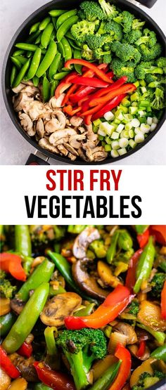 Fry Vegetables Recipe - Build Your Bite Veggie stir fry recipe – with homemade stir fry sauce. This is amazing and has so much flavor!Veggie stir fry recipe – with homemade stir fry sauce. This is amazing and has so much flavor! Stir Fry Dishes, Stir Fry Recipes, Veggie Recipes, Healthy Recipes, Asian Recipes, Chicken Recipes, Healthy Chicken, Simple Vegetable Recipes, Yummy Recipes