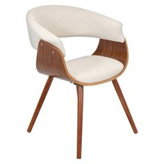 Vintage Mod Dining Chair Wood/Beige - LumiSource