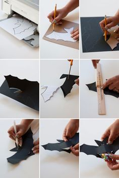 If you love decorating for halloween you re going to love these diy halloween decorations. Great ways to decorate your … Halloween Fruit, Fete Halloween, Halloween Bows, Halloween Crafts, Paper Halloween, Costume Halloween, Halloween Room Decor, Homemade Halloween Decorations, Origami Pumpkin