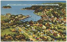 vintage postcards of maine - Google Search