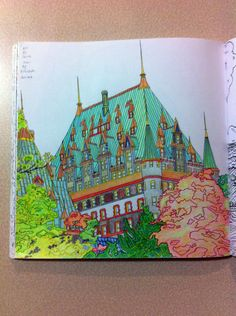 Chateau Frontenac Coloured By Robert VanDyke