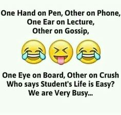 Hahaha yes we are very busy funny thoughts, funny images, funny pictures, twisted Very Funny Memes, Funny School Jokes, Cute Funny Quotes, Some Funny Jokes, Funny Facts, Hilarious, Funny Stuff, Random Facts, School Humor