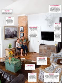 At Home: Karen E Laine's Living Room // The mom behind HGTV's Two Chicks and a Hammer shared her living room reno with us.