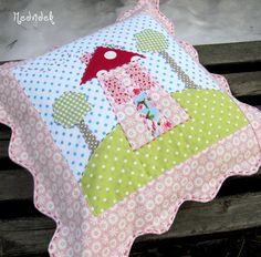 cute house pillow