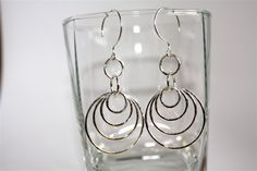 Smaller to larger circle earrings by Danielledunlap on Etsy, $73.00