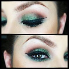 love the green and brown and the eyebrows