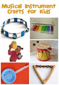 Musical Instrument Crafts For Kids - Fun Family CraftsMusical Instrument Crafts - Fun Family Crafts Want excellent helpful hints about arts and crafts?This will help the children experience playing instruments in different ways. Music For Kids, Diy For Kids, Crafts For Kids, Kids Fun, Toddler Crafts, Fun Music, Children Crafts, Dance Music, Craft Activities