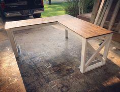 L-shaped desk.