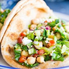 These Mediterranean Chopped Salad Pitas are great for a quick and easy lunch or a healthy no-cook dinner! It's been hot here lately. Like, 100 degrees hot. I'm never ready for the heat, but especially not in early May! Thankfully, today it got really windy and must have blown in a cold front because I …