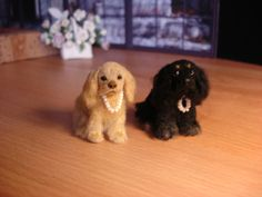 Petunia & Princess. 1:12 scale ~By my incredibly talented friend & fellow artisan, Lucy Maloney. These are NOT felted!! Amazing, lifelike reproductions!