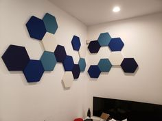Our easy to install acoustic panels absorb a minimum of of unwanted sounds l. Acoustic Wall Panels, 3d Wall Panels, Wall Tiles Design, Wall Decor Design, Band Rooms, Dining Room Wallpaper, Acoustic Design, Colorful Wall Art, Sound Proofing