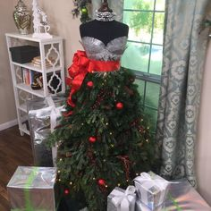 Use a Dress Form to create a chic Christmas Tree this year! Catch Home and Family weekdays at 10/9c on Hallmark Channel!