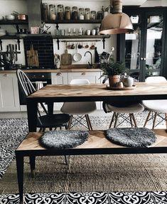 Estilo industrial Interior Design Hashtags, Best Interior Design, Luxury Interior, Kitchen Interior, Kitchen Design, Kitchen Decor, Kitchen Ideas, Kitchen Wood, Floors Kitchen