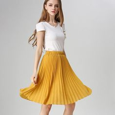 3d990dcc9c ANASUNMOON Women Chiffon Pleated Skirt Vintage High Waist Tutu Skirts -  CHICO AND SIMBA Tutu Skirts
