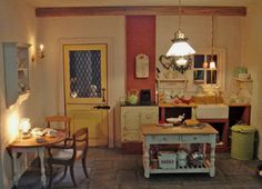 Miniature country kitchen