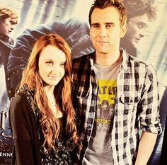 Evanna Lynch and Matthew Lewis - looking good!