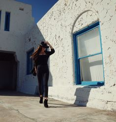 Monica Miyagi | Amargosa Opera House and Hotel | Death Valley Junction | Desert All Black Outfits