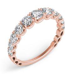 Rose Gold Wedding Band style number EN7463-BRG.