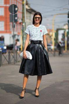 Giovanna Battaglia Street Style MFW 2