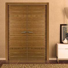Sanrafael Lisa Flush Double Fire Door - Model K28 Etimoe Prefinished. #sanrafaeldoors #internaldoubledoors #internaldesignerdoorpair