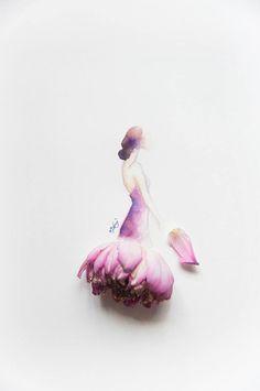 Cultura Inquieta - Ilustraciones Usando Flores Reales