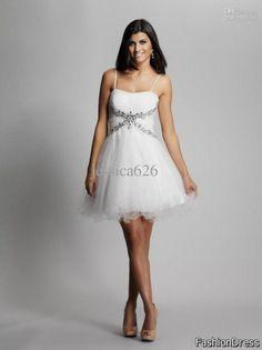 Cool white dresses for girls graduation 2017-2018