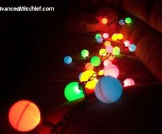 How To: Ping Pong Ball Lights. Turn a plain string of christmas lights into something cooler