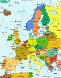 European Countries and Capital Cities - interactive map - so much ...