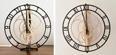"Wooden clock ""Magica"" from Manfred Rösler. Designed by Christopher Blasius. Plans available at holzmechanik.de"