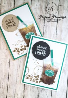 Ice Americano Card with Coffee Cafe Stamp set – H MADE BOUTIQUE