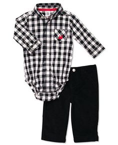 Carter's Baby Set, Baby Boys Plaid Bodysuit and Pants - Kids Baby Boy (0-24 months) - Macy's