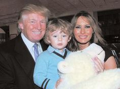 Donald and Melania Trump with son Barron. Photo by: Cutty McGill