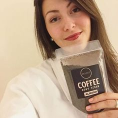 ✨ Beauty @sop_e is ready to get her almond scrub on! 😍🌰☕💕  www.Janessence.com